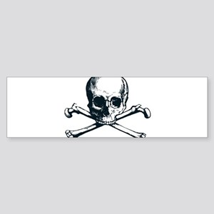 Pirate Skull Cross & Bones Bumper Sticker