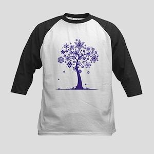 Winter Tree Kids Baseball Jersey