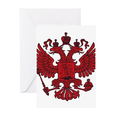 Medieval Eagle Crest Greeting Card