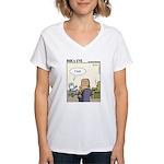 Funny Poker/gambling Women's V-Neck T-Shirt