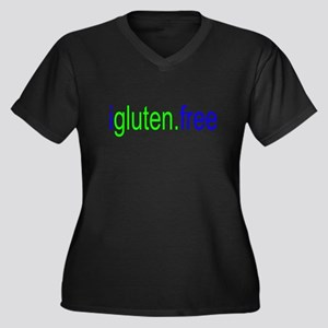igluten.free Women's Plus Size V-Neck Dark T-Shirt