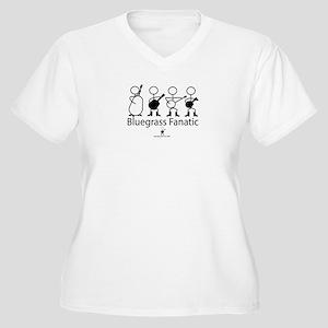 Bluegrass Fanatic Women's Plus Size V-Neck T-Shirt