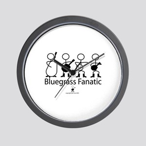 Bluegrass Fanatic Wall Clock