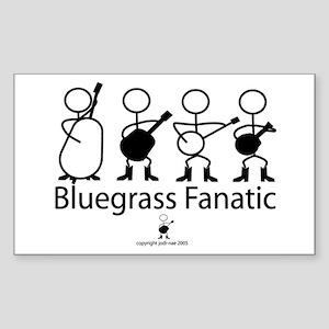 Bluegrass Fanatic Rectangle Sticker