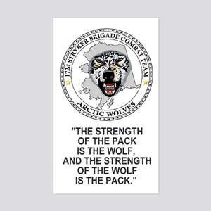 172nd Stryker Brigade<BR>Arctic Wolves Sticker