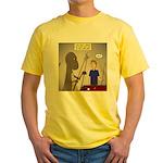 T-Rex Playing Pool Yellow T-Shirt