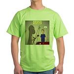 T-Rex Playing Pool Green T-Shirt