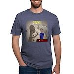 T-Rex Playing Pool Mens Tri-blend T-Shirt