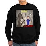 T-Rex Playing Pool Sweatshirt (dark)