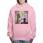 T-Rex Playing Pool Women's Hooded Sweatshirt