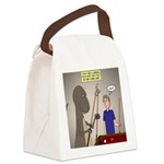 T-Rex Playing Pool Canvas Lunch Bag