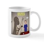 T-Rex Playing Pool 11 oz Ceramic Mug