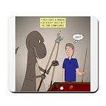 T-Rex Playing Pool Mousepad