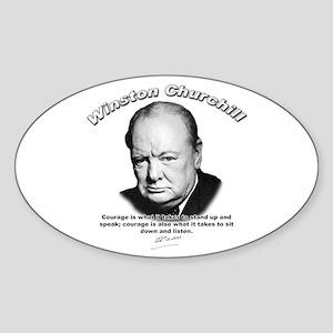Winston Churchill 01 Oval Sticker