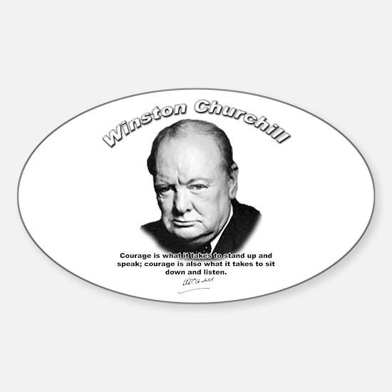 Winston Churchill 01 Oval Decal