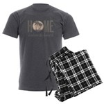 Home is where the heart is Men's Charcoal Pajamas