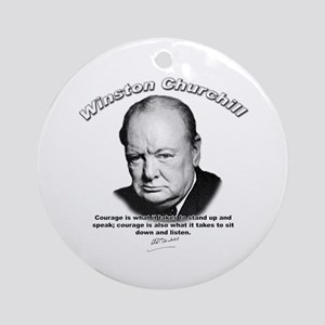 Winston Churchill 01 Ornament (Round)