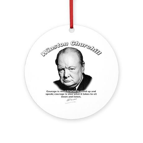 Winston Churchill 01 Ornament (Round)