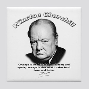 Winston Churchill 01 Tile Coaster