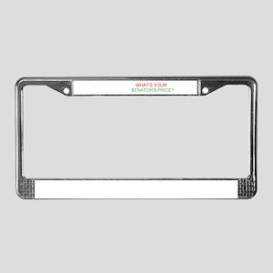 Senator's Price License Plate Frame