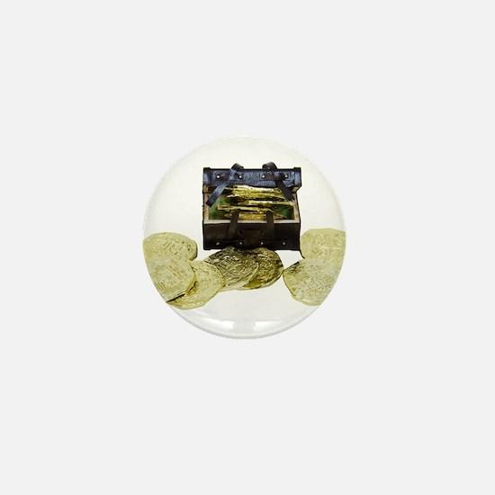 Treasure chest miniature Mini Button