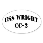 USS WRIGHT Oval Sticker (10 pk)