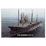 USS WRIGHT Large Poster