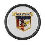 USS WRIGHT Large Wall Clock