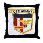 USS WRIGHT Throw Pillow