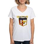 USS WRIGHT Women's V-Neck T-Shirt