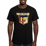 USS WRIGHT Men's Fitted T-Shirt (dark)