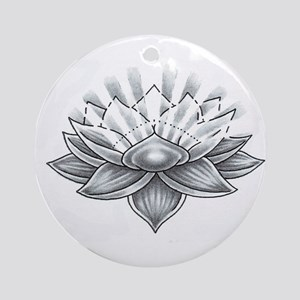 Lucky Lotus Ornament (Round)
