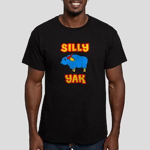 Silly Yak Celiac Men's Fitted T-Shirt (dark)
