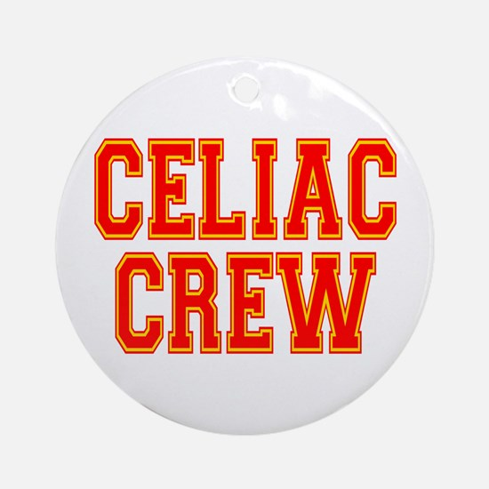Celiac Crew Ornament (Round)
