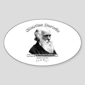 Charles Darwin 02 Oval Sticker