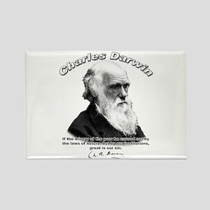 Charles Darwin 02 Rectangle Magnet