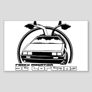 Rocky Mountain DeLoreans Rectangle Sticker