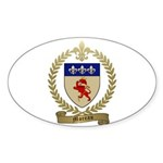 MOREAU Family Crest Oval Sticker (50 pk)