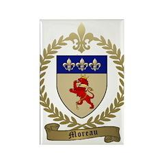 MOREAU Family Crest Rectangle Magnet (10 pack)