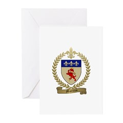 MOREAU Family Crest Greeting Cards (Pk of 10)