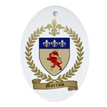 MORROW Family Crest Oval Ornament