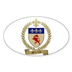 MORROW Family Crest Oval Sticker