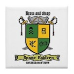 space raiders coat-of-arms coaster