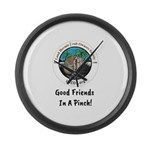 Good Friends in a Pinch Large Wall Clock