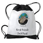 Good Friends in a Pinch Drawstring Bag
