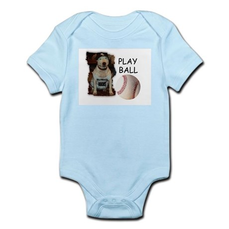 BASEBALL ROCKS (PIT BULL) Infant Creeper