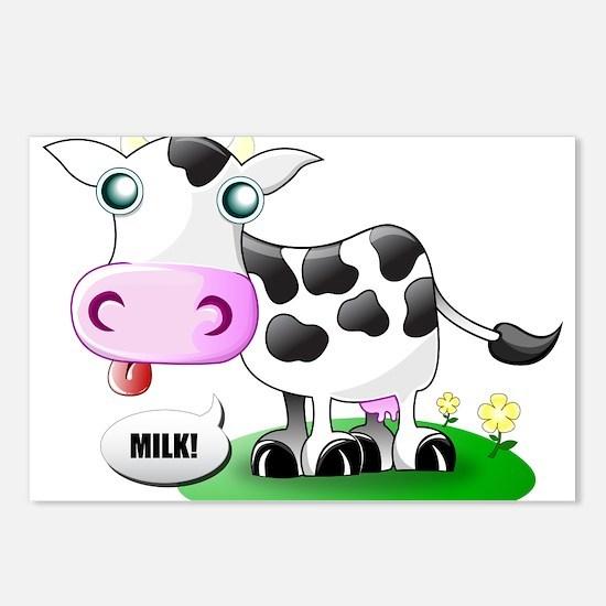Cute Cow Milk Postcards (Package of 8)