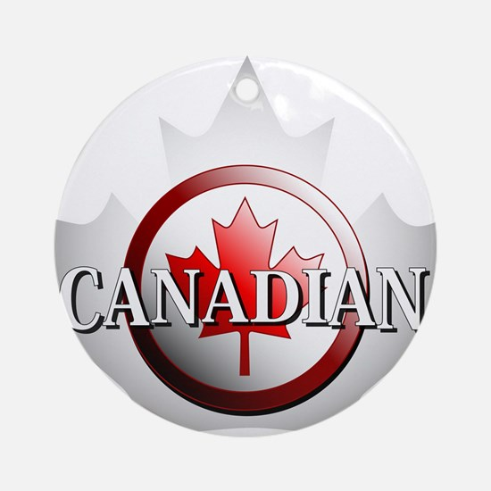 I be Canadian Ornament (Round)