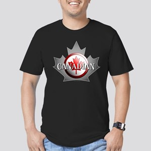 I be Canadian Men's Fitted T-Shirt (dark)