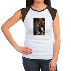 Hairdresser Mohawk & Dog Women's Cap Sleeve T-Shir